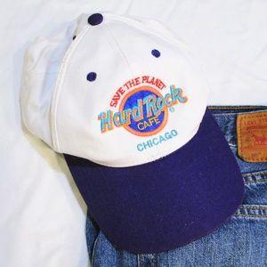 VINTAGE Hard Rock Cafe Chicago Baseball Hat